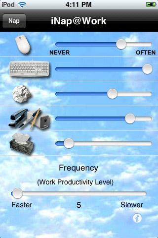 App: iNap@Work