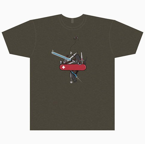 Geek Army Knife Tee