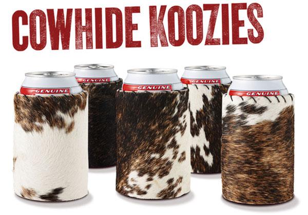 Cowhide Koozies