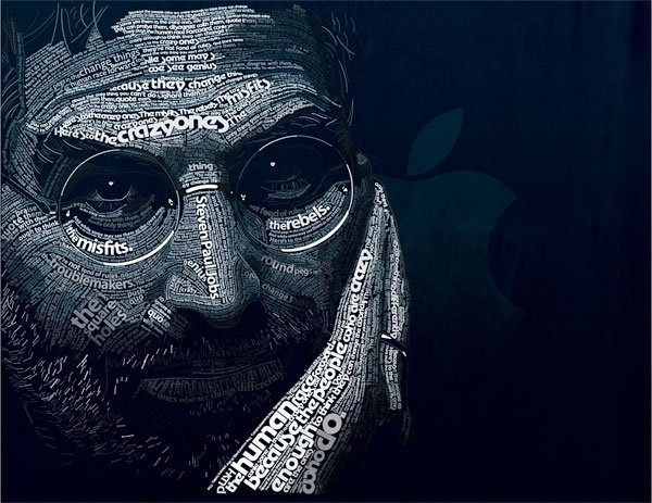 Typographic Steve Jobs