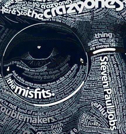 Typographic Steve Jobs