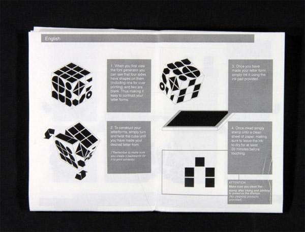 Rubik Font Generator