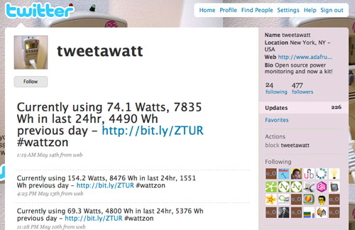 DIY: Tweet-A-Watt
