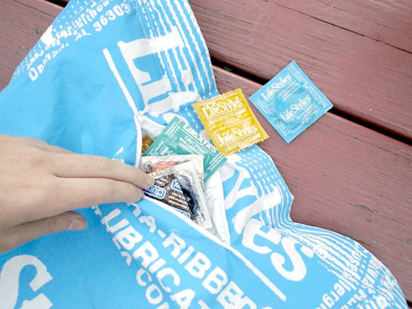 Giant Condom Pillow