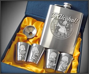 Homer Hip Flask