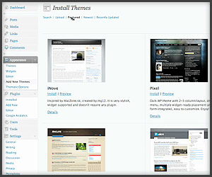 App: WordPress 2.8
