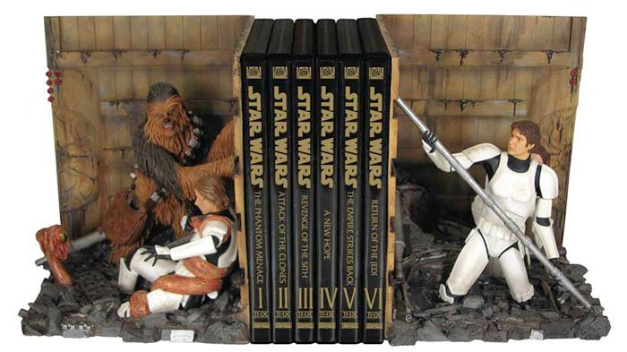 Trash Compactor Bookends