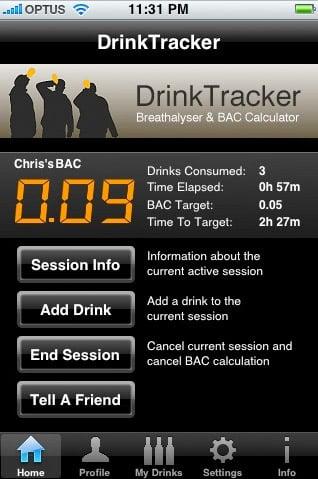Iphone App: DrinkTracker
