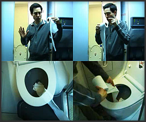 Video: Airplane Toilet Paper