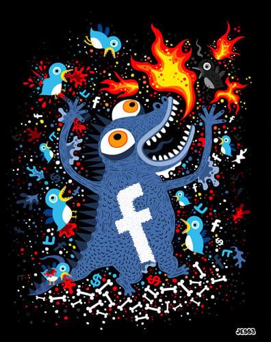 Art: Facebook vs. Twitter
