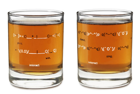 Emoticon Shot Glasses