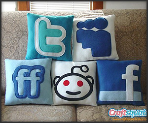 Social Media Pillows