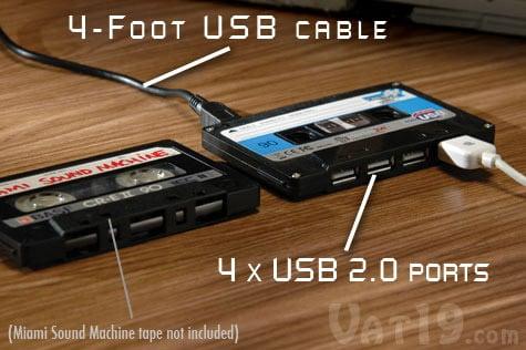 Cassette-Shaped USB Hub