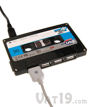 Cassette-Shaped USB Hub