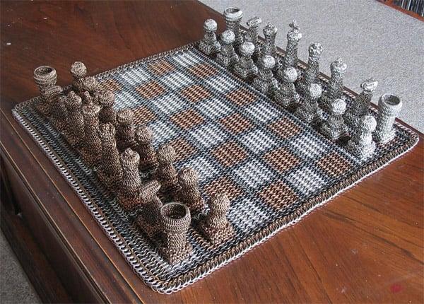 Chain Mail Chess Set