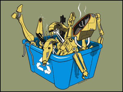Droid Recycle Bin Tee