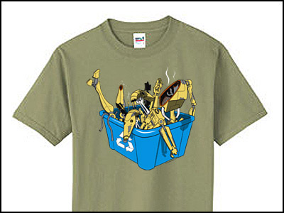 Droid Recycle Bin Tee