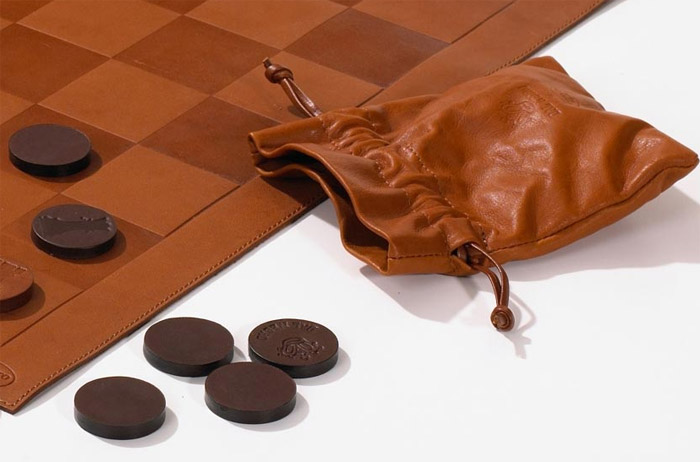 Leather Chess & Checkers