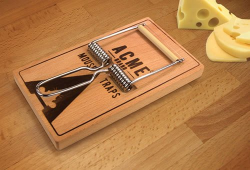Mousetrap Cheese Board