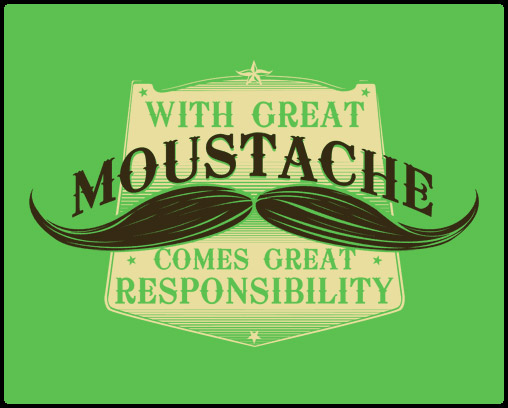 Great Moustache Tee
