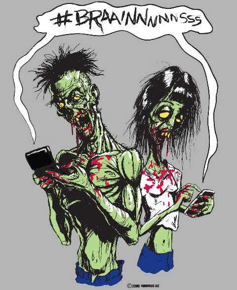 Twitter Zombies T-shirt