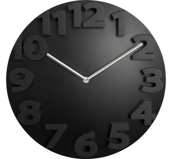 Raised Number Clock