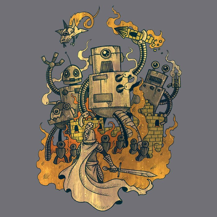 Medieval Robot Tee