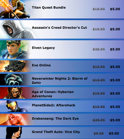 Direct2Drive: $5 Games