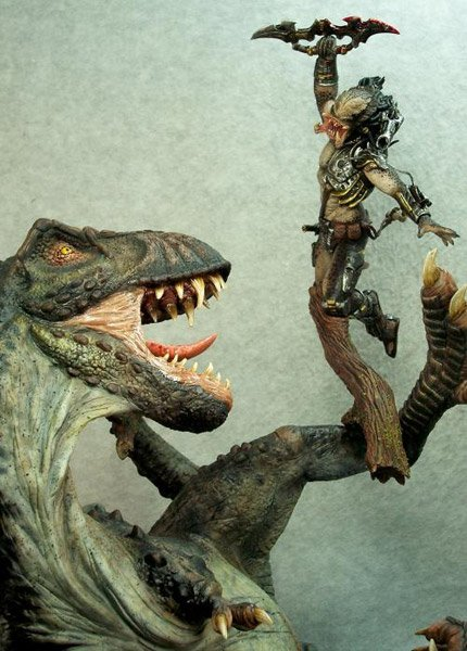 Predator Vs T Rex The Awesomer