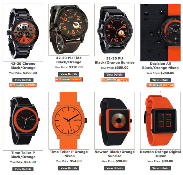 Nixon Black/Orange Series