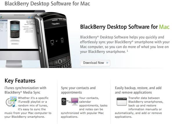 Blackberry Desktop: Mac