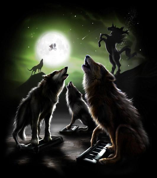 3 Keyboard Wolf Tee