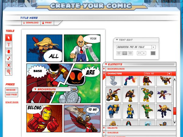 Create Your Own Comic The Awesomer