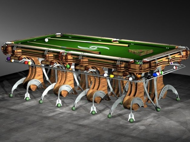 Hurricane Billiard S Mantis Custom Is Their Latest Pool Table De