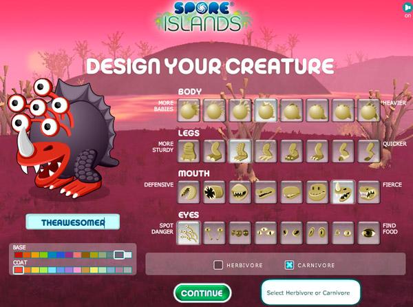 Facebook: Spore Islands