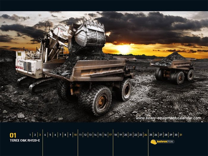 Heavy Equipment Calendar