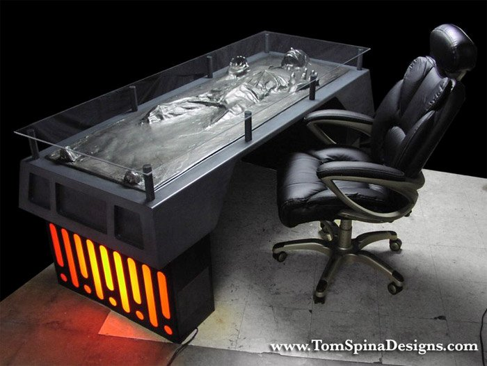 Han Solo Carbonite Desk The Awesomer