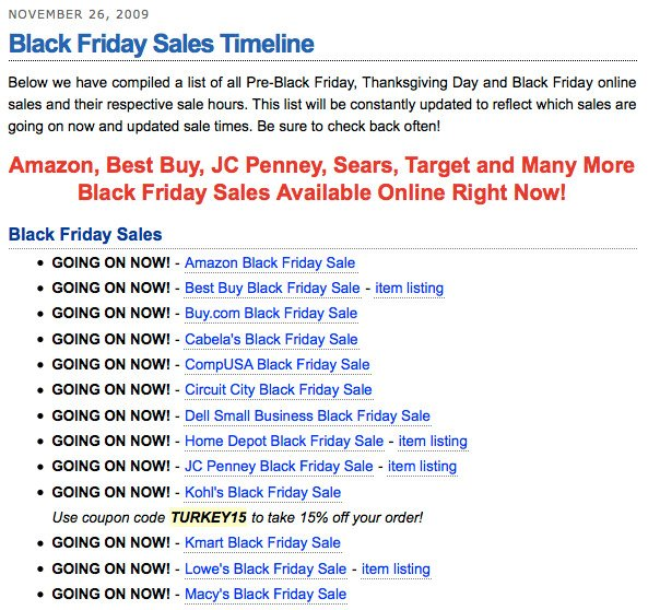 Black Friday 2009