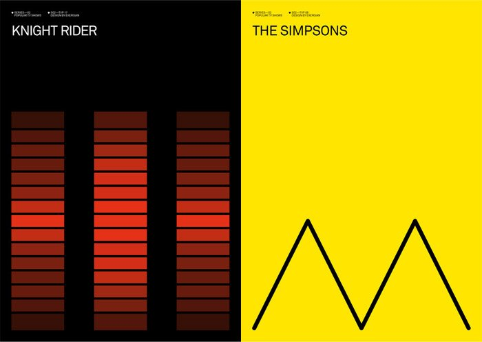 Art minimalist tv posters the awesomer for Art post minimalisme