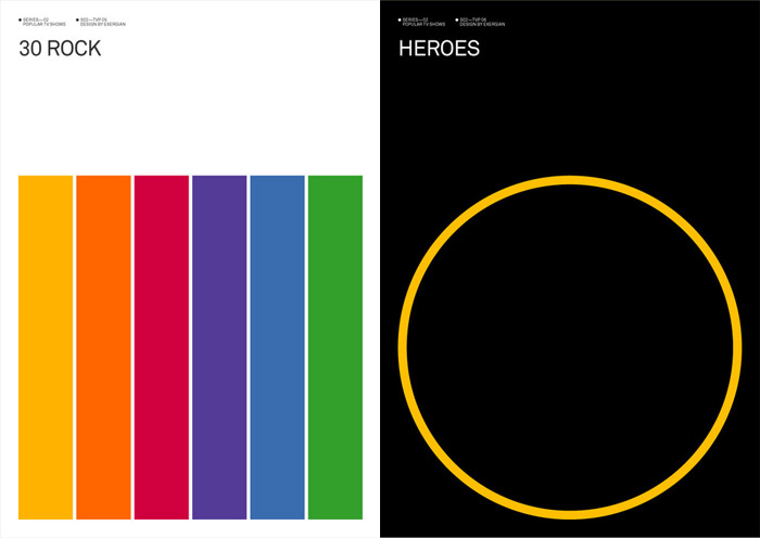 Art: Minimalist TV Posters