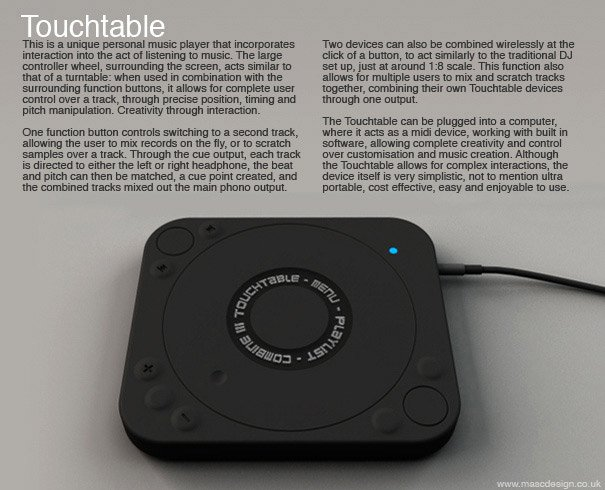 Concept: Touchtable
