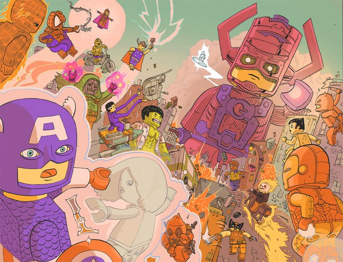 Art: LEGO Superheroes