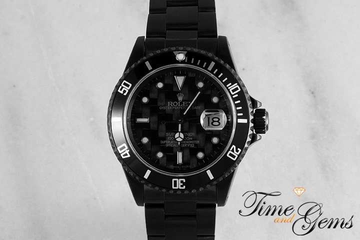 Black Rolex DLC/CF