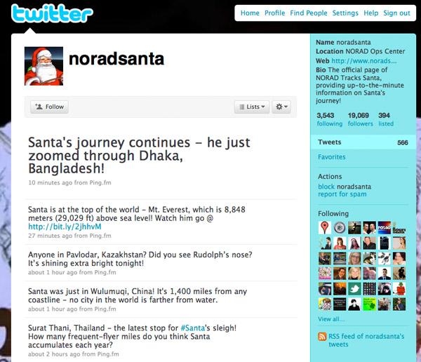 NORAD Santa 2009