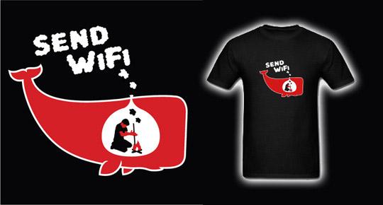 Send WiFi T-shirt