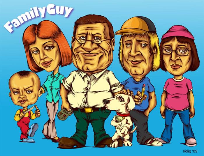 Semi-Realistic Family Guy