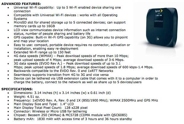 Overdrive 3G/4G Hotspot
