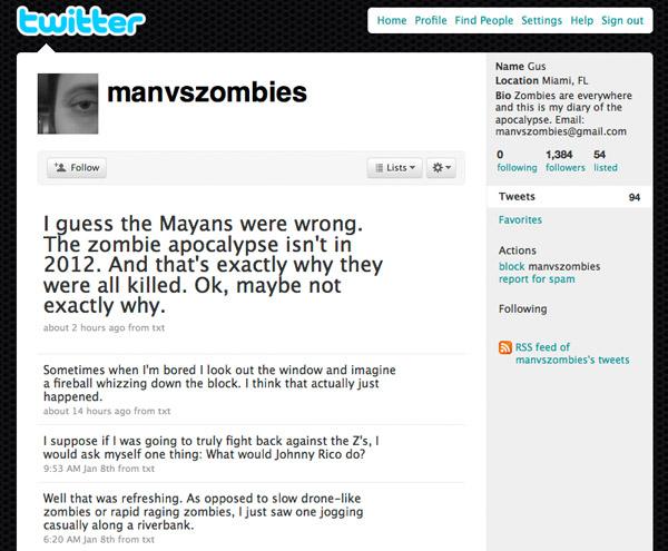 Twitter: manvszombies