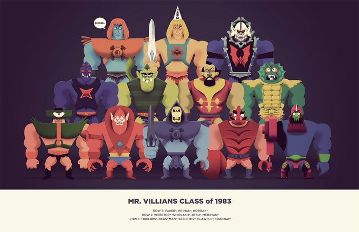 Art: Mr. Villains Class of 1983
