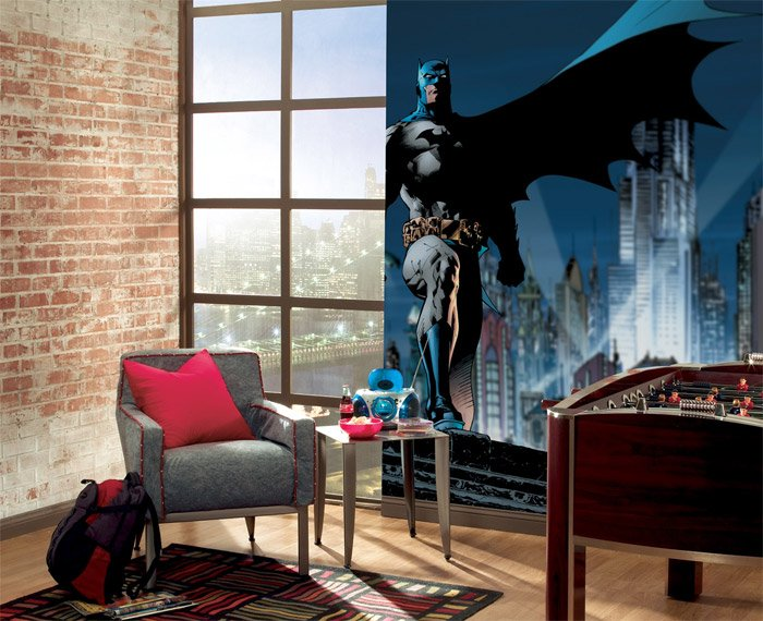 Batman xl wall mural the awesomer for Batman wall mural uk